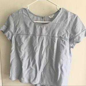 Garage cropped t-shirt blouse